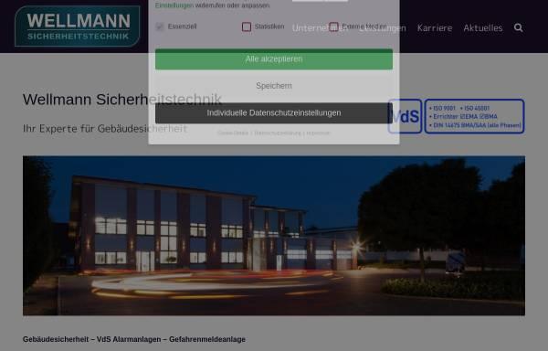 Vorschau von www.wellmann-sicherheitstechnik.de, Wellmann Sicherheitstechnik