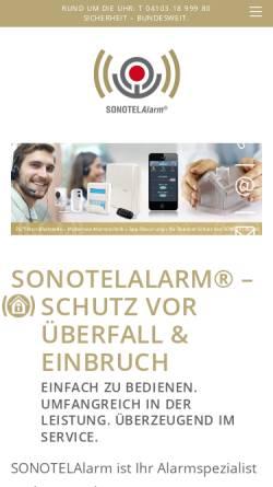 Vorschau der mobilen Webseite www.sonotelalarm.de, V.S.M. Vertrieb Service Marketing GmbH