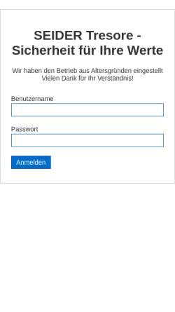 Vorschau der mobilen Webseite www.eurotresore.de, Seider Tresorservice