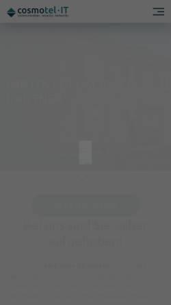 Vorschau der mobilen Webseite www.cosmotel.de, Cosmotel IT GmbH