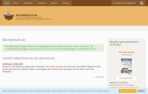 Vorschau von www.buechereule.de, Büchereule.de   Portal