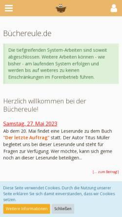 Vorschau der mobilen Webseite www.buechereule.de, Büchereule.de   Portal