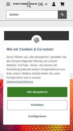 Vorschau der mobilen Webseite www.stoff-connexion.de, Garn-ConneXion.de UG