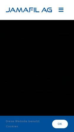 Vorschau der mobilen Webseite www.jamafil.ch, Jamafil AG