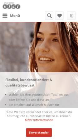 Vorschau der mobilen Webseite www.druckundstick.ch, Vici druck & stick GmbH