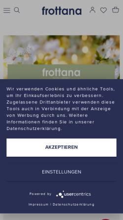 Vorschau der mobilen Webseite www.frottana.de, Frottana-Textil GmbH