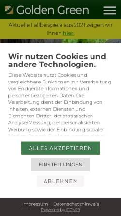 Vorschau der mobilen Webseite www.golden-green.de, Golden Green, Bernd Ritter
