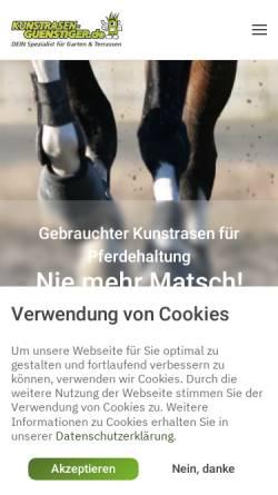 Vorschau der mobilen Webseite kunstrasen-guenstiger.de, StraightSports GmbH