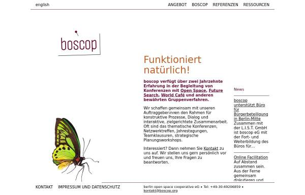 Vorschau von www.boscop.org, Boscop eG