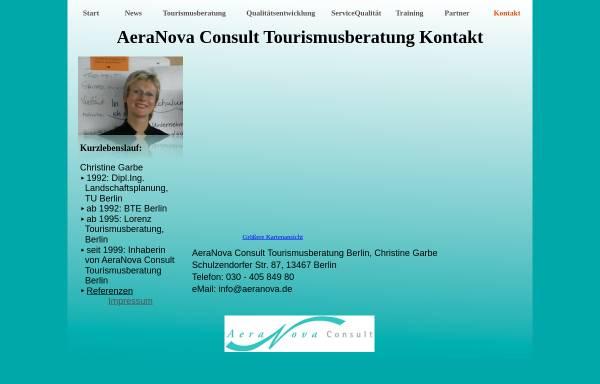 Vorschau von www.aeranova.de, AeraNova Consult Tourismusberatung