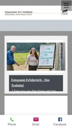 Vorschau der mobilen Webseite www.faw-coaching.de, FAW-Coaching