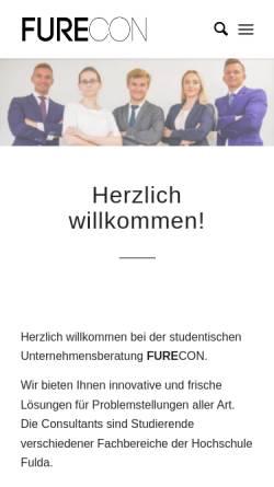 Vorschau der mobilen Webseite furecon.de, Furecon UG