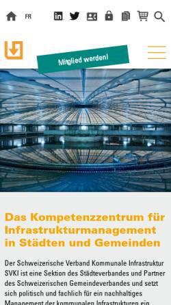 Vorschau der mobilen Webseite kommunale-infrastruktur.ch, Kommunale Infrastruktur