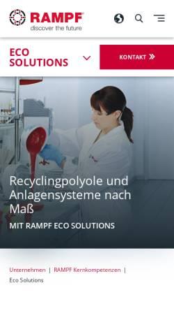Vorschau der mobilen Webseite www.rampf-gruppe.de, Rampf Eco Solutions GmbH & Co. KG