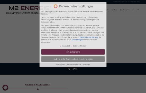 Vorschau von www.m2energie.com, M2energie GmbH