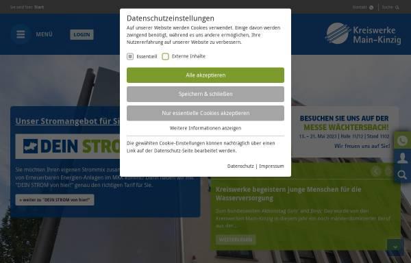 Vorschau von www.kreiswerke-main-kinzig.de, Kreiswerke Main-Kinzig GmbH