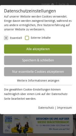 Vorschau der mobilen Webseite www.kreiswerke-main-kinzig.de, Kreiswerke Main-Kinzig GmbH