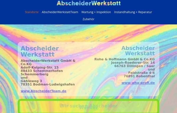 Vorschau von www.abscheiderwerkstatt.de, Abscheiderwerkstatt.de GmbH & Co. KG