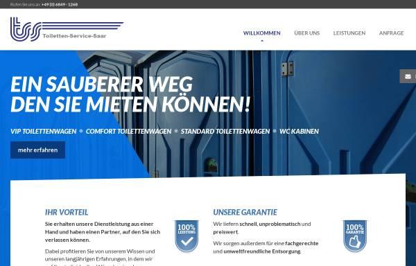 Vorschau von www.toiletten-service-saar.de, TSS Toiletten Service Saar