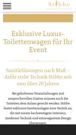 Vorschau der mobilen Webseite www.stibbe.de, Technik Stibbe