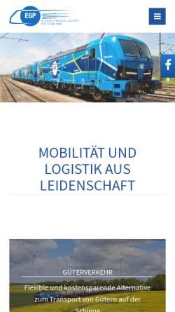 Vorschau der mobilen Webseite www.eg-potsdam.de, Eisenbahngesellschaft Potsdam mbH