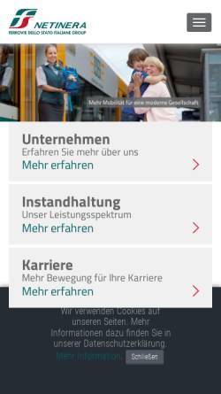 Vorschau der mobilen Webseite www.netinera.de, Netinera Deutschland GmbH