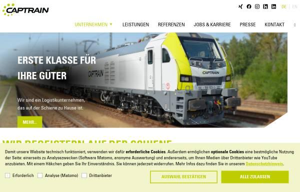 Vorschau von www.captrain.de, Dortmunder Eisenbahn GmbH