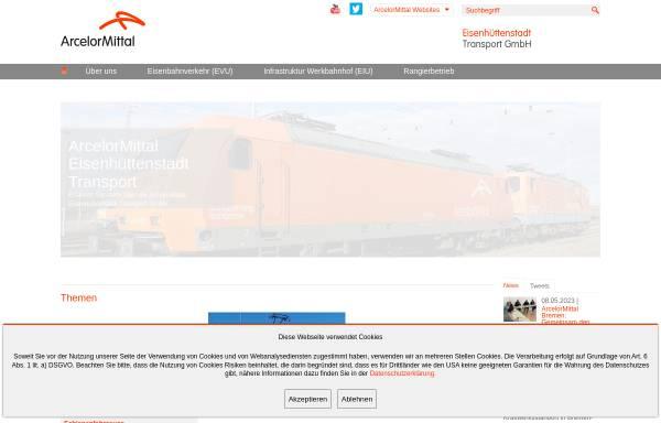 Vorschau von www.arcelormittal-ehst-transport.com, ArcelorMittal Eisenhüttenstadt Transport GmbH