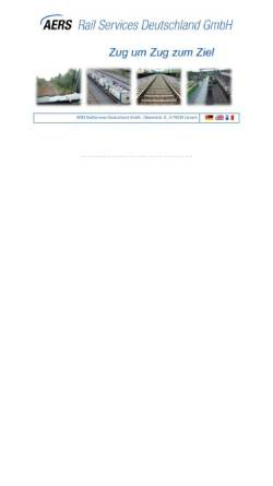 Vorschau der mobilen Webseite www.aers-rail-services.de, AERS Rail Services Deutschland GmbH
