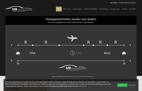 Vorschau von www.mb-limousinenservice.com, MB Limousinenservice, Matthias Becker