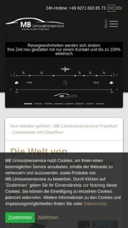 Vorschau der mobilen Webseite www.mb-limousinenservice.com, MB Limousinenservice, Matthias Becker