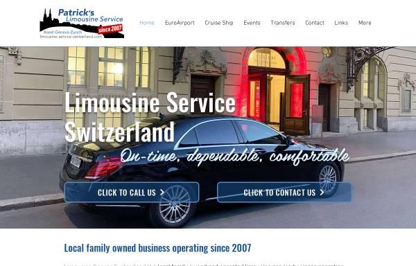 Vorschau von www.limousine-service-basel.ch, Patrick's Limousinen Service GmbH
