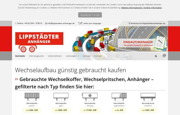Vorschau von www.lippstaedteranhaenger.de, Lippstädter Anhänger GmbH
