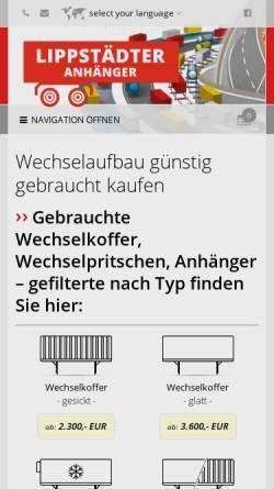 Vorschau der mobilen Webseite www.lippstaedteranhaenger.de, Lippstädter Anhänger GmbH