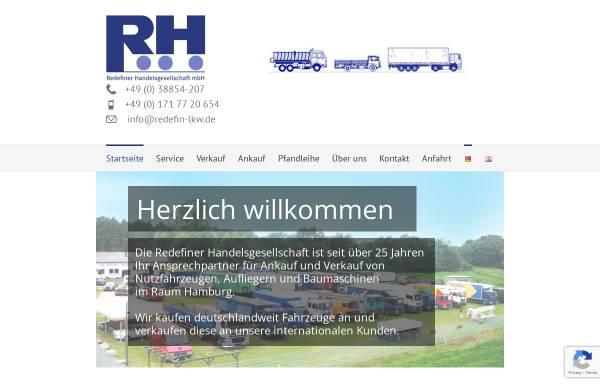 Vorschau von www.redefin-lkw.de, Redefiner Handelsgesellschaft mbH