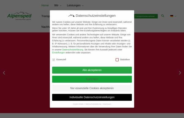 Vorschau von www.alpensped.de, Alpensped GmbH
