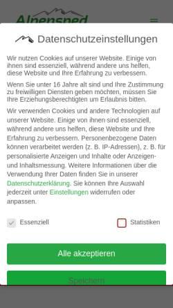 Vorschau der mobilen Webseite www.alpensped.de, Alpensped GmbH