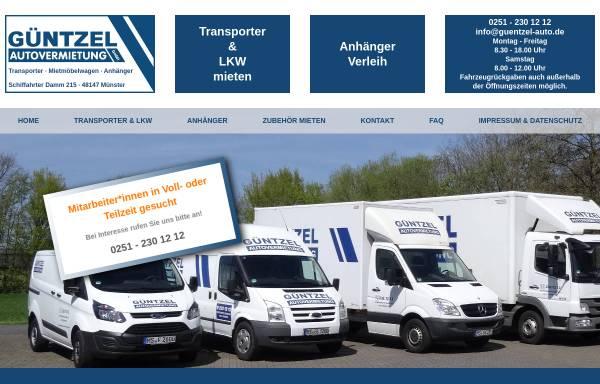 Vorschau von guentzel-autovermietung.de, Güntzel Autovermietung GmbH