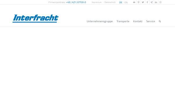 Vorschau von www.interfracht.de, Interfracht Internationale Spedition Hogenkamp & Karrasch (GmbH & Co.) KG