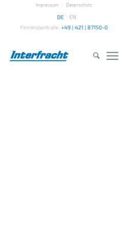 Vorschau der mobilen Webseite www.interfracht.de, Interfracht Internationale Spedition Hogenkamp & Karrasch (GmbH & Co.) KG