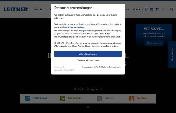 Vorschau von www.leitner-ropeways.com, Leitner AG