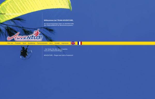 Vorschau von aero-team.de, TEAM-Adventure Motorschirmsysteme Clemens Engler