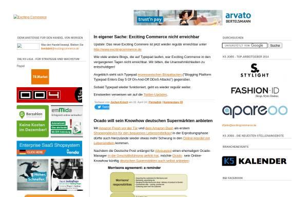 Vorschau von ecommerce.typepad.com, Exciting Commerce