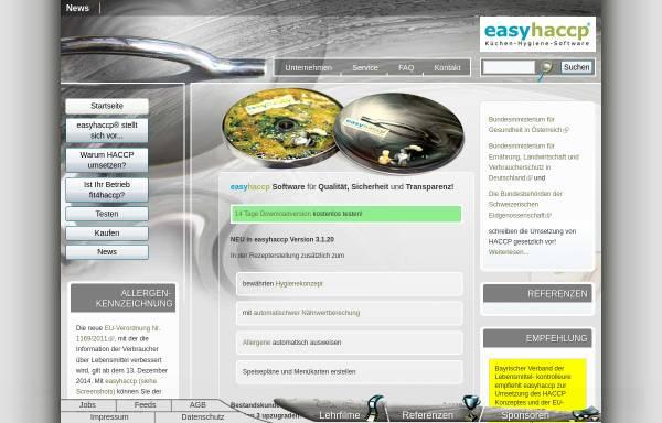 Vorschau von www.easyhaccp.eu, Kopetzky & Moritz OG
