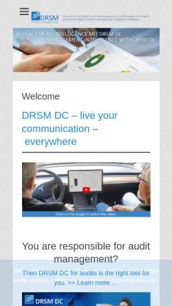 Vorschau der mobilen Webseite www.drsm.de, Dr. Starke Management Systeme