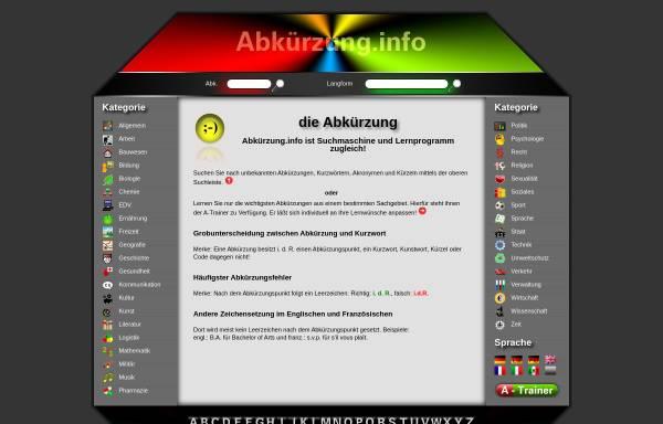 Vorschau von xn--abkrzung-85a.info, Abkürzung.info