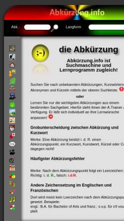 Vorschau der mobilen Webseite xn--abkrzung-85a.info, Abkürzung.info