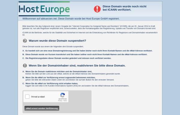 Vorschau von abkuerzen.net, Abkuerzen.net