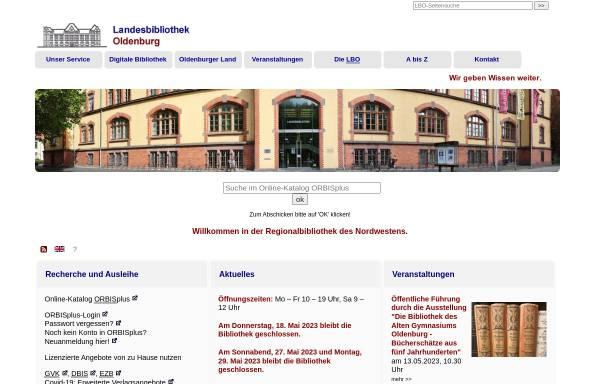 Vorschau von www.lb-oldenburg.de, Landesbibliothek Oldenburg