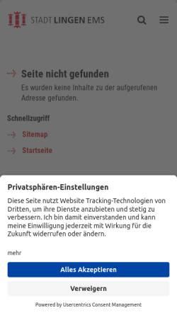 Vorschau der mobilen Webseite www.lingen.de, Stadt- und Hochschulbibliothek Lingen (Ems)
